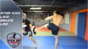 Low side kick stopping opponent's advance